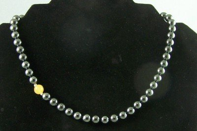 H.I.S. Signature Collection Necklace: Hematite, Honey Jade and Sterling