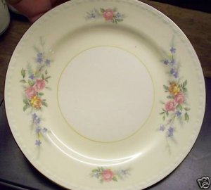 "2 Homer Laughlin Georgian Eggshell 6-1/4"" Bread Plates"