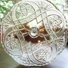 Curved Star~Cathedral~US GLASS Headdress~EAPG Compote