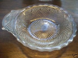 4 Portland Glass Co~WATERFORD~EAPG Handled Berry Bowls
