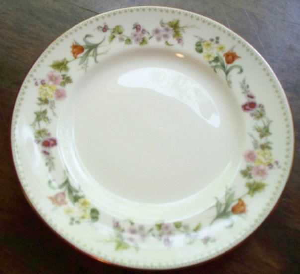 "2 Mirabelle by Wedgwood~Bone China~8-1/8"" Salad Plates"