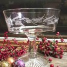Riverside Glass Works Marsh Fern Engraved Open Compote