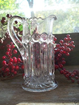 Westmoreland Glass EAPG Ball & Bar Pitcher c1896 BEAUTY