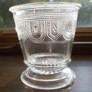Burlington Glass~BEADED BAND~Clear Spoon Holder c.1884