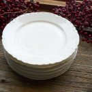 "Set of 7 Haviland Limoges France White Blank 6-1/4"" Pie Plates"