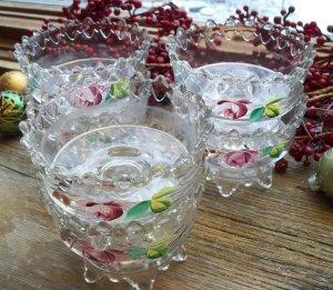 Set of 6 EAPG Victorian Era Footed~Pedestal Dessert Glasses~Sherbet Cups