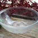 "US Glass Co~STRAWBERRY~7-1/2"" Crystal Depression Vegetable Bowl c.1930's"