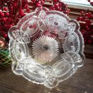 US Glass Co CANNONBALL PINWHEEL Open Jelly Bowl c.1906