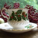 ROSINA~QUEENS Fine Bone China YULETIDE Cup & Saucer Set