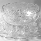 14-Piece Punch Set Manhattan-Clear pattern U S Glass Co