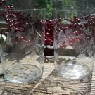 Set of 8 Antique ABP Cut Glass BUTTERFLY & FLORAL Tumblers