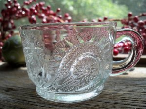 6 US Glass~SLEWED HORSESHOE~Punch Cups~EAPG~c.1908