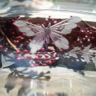 ABP American Brilliant Butterfly Cut Glass Dessert Glasses