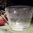MacBeth-Evans Crystal 'S' Pattern Stippled Rose Band Tea Cup