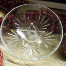 "Set of 6 Federal Glass STAR Crystal 4-5/8"" Dessert Bowls"