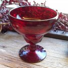Set of 6 Fenton Crystal Georgian Ruby #1611 Tall Sherbet 6 oz.