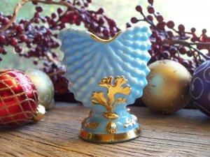 Blue Fenton Milk Glass Toothpick Holder