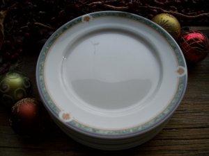 "Set of 6 Noritake ONEIDA Restaurantware Green Marble 6-1/2"" Bread & Butter Plates"