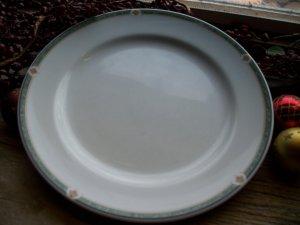 "Set of 6 Noritake ONEIDA Restaurantware Green Marble 10-5/8"" Dinner Plates"