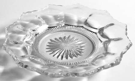 """HEISEY EAPG #300 Colonial Clear 5-7/8"""" Bread & Butter Plate"""