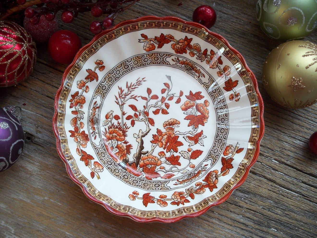 """Spode Copeland  INDIAN TREE  5-3/8"""" Fruit/Dessert/Sauce Bowl (Old Backstamp)"""
