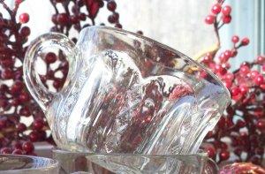 Set of 7 Duncan Miller DIAMOND RIDGE Pattern #48 Crystal Punch Cups