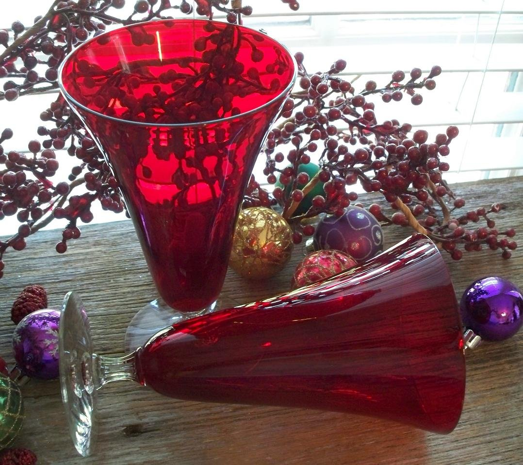 Morgantown Monroe Red Footed Iced Tea Goblet