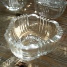 Set of 6 Clear Fostoria SUNRAY Salt Dips
