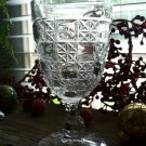U.S. Glass Co LOG & STAR Pressed Glass EAPG Water Goblet