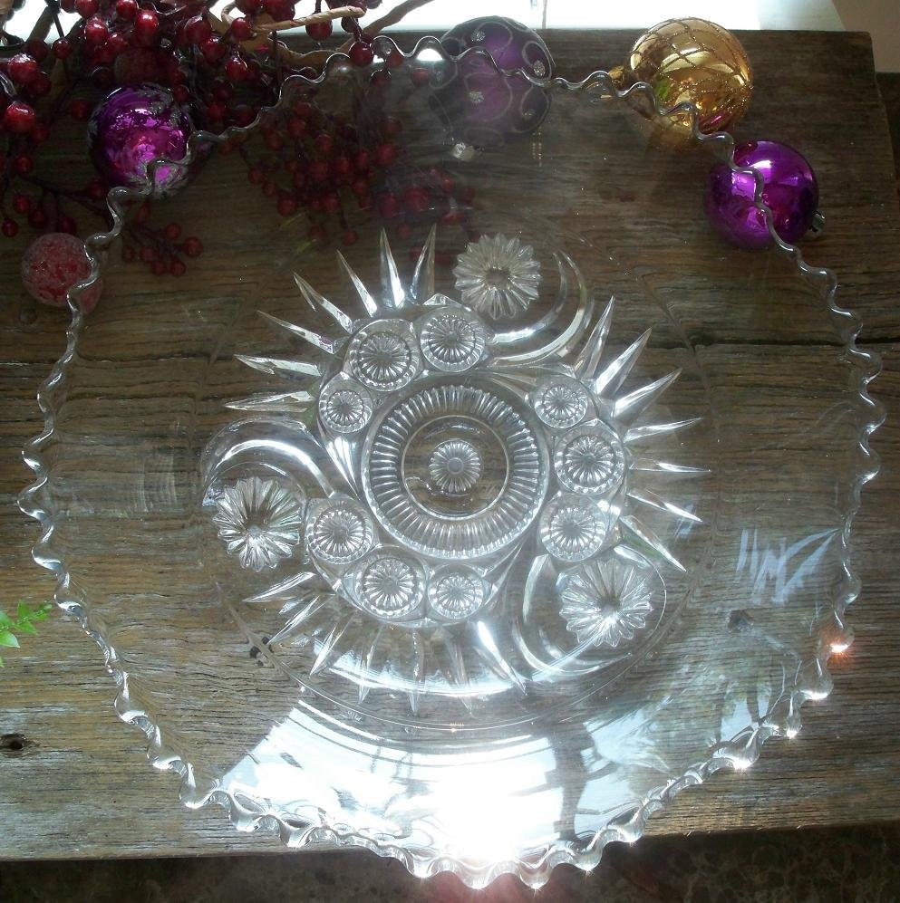 "Riverside Glass Works ESTER Clear 10-1/4"" Footed Fruit Bowl"