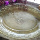 Federal Depression Glass Amber ROSEMARY~MAYFAIR Oval Serving Platter c.1935-1937
