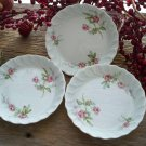 Set of 3 Pink Rose Haviland Limoges Butter Pats