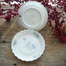 Set of 2 Blue & Brown Floral Haviland Limoges Butter Pats