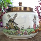 Vintage Royal Dutch Pottery GOEDEWAAGEN GOUDA-HOLLAND Tobacco Jar