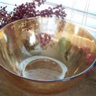 "Jeannette Glass LOUISA Flora Gold 9-1/2"" Salad Bowl"