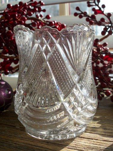 US Glass Co TEPEE EAPG #28 Pressed Glass Spooner c. 1897