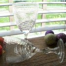 "2 Varga Crystal VGC5 Wine Goblet Honeycomb & Arch Cut 6-5/8"" Tall"
