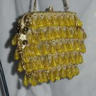 Vintage beaded sequined gold clutch purse hand made Hong Kong  97
