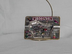 Vintage souvenir Wisconsin ash tray cigarette ashtray  no. 97