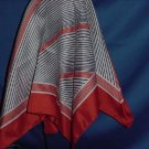 Red white blue scarf polyester Lines geometric shapes  No. 122