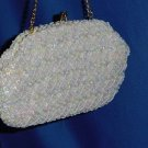 Beaded Purse vintage bag hand made in Hong Kong beads and iridescent sequins  No. 116