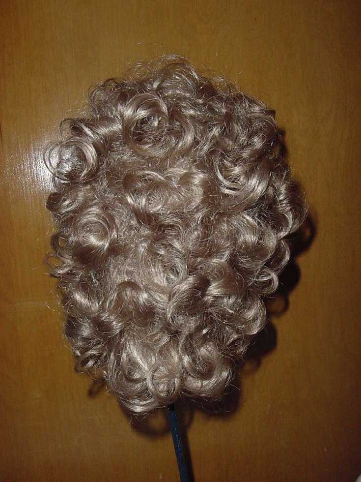 Woman's curly wig blonde Medium length  No. 135