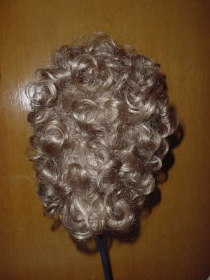 Woman&#039;s curly wig blonde Medium length  No. 135