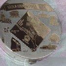 compact Vintage gold tone compact Washington DC souvenir compact  NO. 135