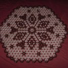 Vintage Beaded placemat design 1970s beaded place mat