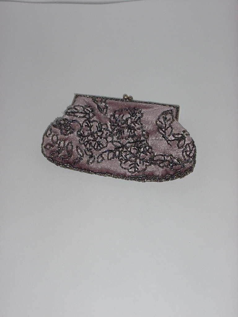 Beaded purse small handbag clutch purse