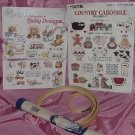 Leisure Arts Leaflet Country Caboodle American School of Needlework 50 Cross Stitch Baby Designs 142