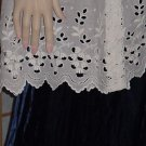 Vintage delicate lace Half Apron vintage Cutwork ivory cotton lace ivory color 143