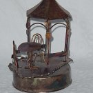 Copper Sculpture Musical Box Mid century Cafe table gazebo You Light Up My Life