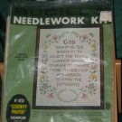 Bucilla Needlework Kit 16  x 20 Serenity Prayer Sampler No. 177